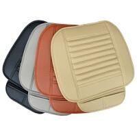 无靠背汽车坐垫竹炭皮三件套单片全包四季通用防滑免绑夏季小座垫