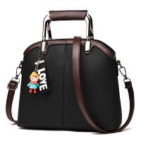 女士包包单肩斜挎包简约大容量韩版手提包 黑色