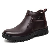 冬季新款保暖加绒羊毛棉鞋加厚真皮高帮鞋厚底韩版东北大棉鞋