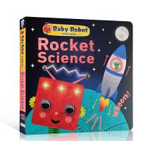 【全店300减100】英文原版 Baby Robot Explains... Rocket Science DK百科全书
