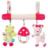床挂 宝宝智益玩具动物床绕车挂 婴幼儿安全座椅挂件毛绒玩具 青蛙猫咪车挂
