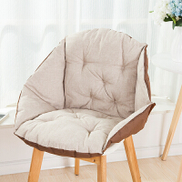 椅垫坐垫靠垫一体办公室护腰靠背板凳电脑餐椅子藤椅学生连体垫子
