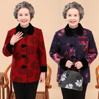 老年人春装奶奶装外套女装春秋60-70-80岁老太太唐装绣花呢子上衣