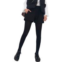 2018新款韩版毛呢短裤女秋冬外穿松紧高腰休闲打底阔腿裤靴裤