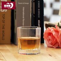 无铅玻璃耐热水杯家用泡茶杯喝水杯奶果汁杯6只无盖套装SN7276