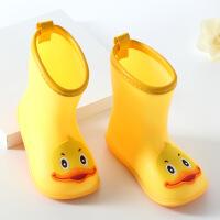 儿童雨鞋小黄鸭雨靴幼儿卡通小孩防滑水鞋小童学生男女童雨鞋