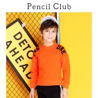 【3折价:41.7】铅笔俱乐部童装2019秋冬季男童长袖T恤儿童上衣中大童休闲圆领T恤