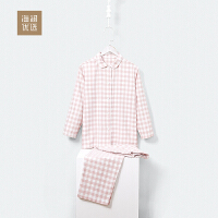海澜优选舒适睡衣套装2018秋季新品可外穿两件套装家居服女士