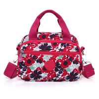 时代印花帆布单肩包迷你尼龙女包包时尚简约小包包女包手提布包袋