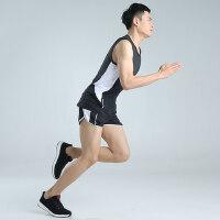 户外运动田径服短跑长跑运动服健身服男跑步训练透气背心套装男