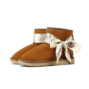 WARORWAR 2019新品YG28-Y999冬季欧美磨砂反绒牛皮真皮平底鞋舒适女鞋潮流时尚潮鞋百搭潮牌雪地靴