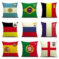 18世界�装饰品足球抱枕世界�主题家居用品摆件足球汽车枕靠