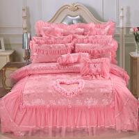 昭辰家纺 全棉贡缎提花 婚庆套件 大红四件套、六件套、八件套、十件套可选床上用品