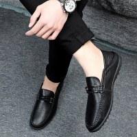 秋季豆豆鞋男男鞋男士休闲皮鞋男懒人鞋韩版套脚鞋子
