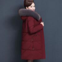 妈妈冬装外套中老年棉衣女装羽绒服妈妈款洋气大码中长棉袄女
