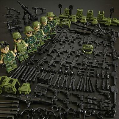 兼容乐高城市警察军事人仔飞虎队突击队反恐特种兵拼装积木玩具
