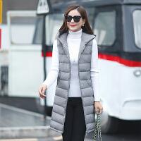 Freefeel2017秋冬新款马甲女装上衣中长款上衣时尚休闲棉马甲