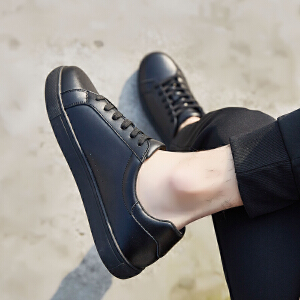 ZHR2018秋季新款平底小白鞋真皮板鞋韩版单鞋百搭休闲鞋时尚男鞋