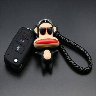 大众钥匙包朗逸新速腾宝来途观蔚领捷达polo钥匙套壳女可爱改装扣