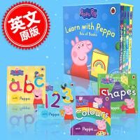 现货 小猪佩奇 英文原版 Learn With Peppa Pig ABC /123 /Colours/Shapes