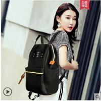 韩版双肩包女潮休闲手提高中学生书包男旅行时尚妈咪背包