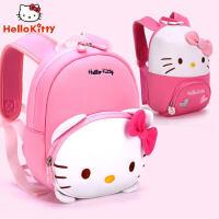 凯蒂猫幼儿园书包3防走失背包大班女宝宝可爱2岁儿童礼物双肩包1