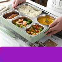 304不锈钢保温饭盒便当快餐盒大容量学生餐盘分格带盖it9