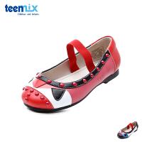 百丽天美意teenmix童鞋18新款女童时装鞋绚丽民族风儿童皮鞋中大童休闲鞋舞蹈鞋(5-10岁可选) DX0300