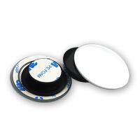 后视镜小圆镜汽车倒车广角辅助反光镜高清无边前轮盲点镜配件用品 无边框360度旋转小圆镜
