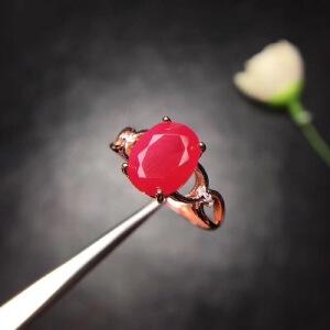 缅甸红宝石戒指,鸽血红,红宝石