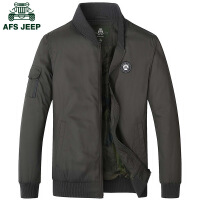 Afs Jeep男式夹克战地吉普秋冬新款大码薄款商务休闲夹克外套2051
