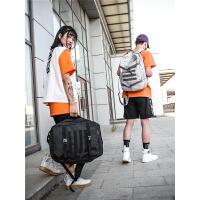 潮牌原创休闲书包男大容量帆布高中学生双肩包女韩版男士旅行背包