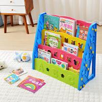 宝宝书架 简易儿童收纳书架绘本架落地置物架杂志架学生书柜书报展示架