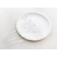 烘培餐具盘叉组一次性叉碟套装生日刀叉盘组合纸盘子