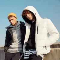 【1件2.5折到手价:249.8】美特斯邦威羽绒服男冬季新款潮流休闲加厚短款青少年外套男