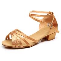 儿童拉丁舞鞋女孩女童拉丁舞蹈鞋少儿练功基础舞鞋女士演出交谊舞