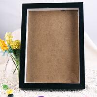 摆台相框A4亚克力相框塑料画框胶相框支架画框奖状证书 A4黑棕色木质相框