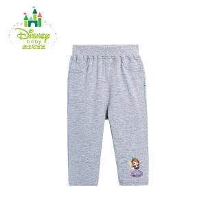 【3件4折】迪士尼Disney女宝宝休闲长裤纯棉女童外出裤运动裤春秋款163K718