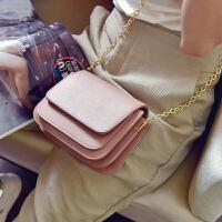 包包2017新款斜挎包女小包实用多层女包迷你链条风琴包单肩小方包