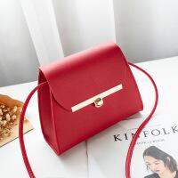 女包包2019新款小方包简约斜挎包红色高级感单肩包化妆包