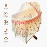 多功能哄睡婴儿摇篮床宝宝床摇床 带蚊帐滚轮电动自动 新生儿礼物a364