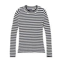 美特斯邦威官方店毛衣女装秋冬季学生修身条纹休闲长袖针织衫