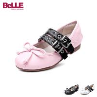 百丽Belle童鞋18新款儿童皮鞋时尚女童时装鞋中大童女孩学生鞋文艺表演鞋 (7-13岁可选) DE0600