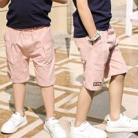 男童短裤新款夏装儿童休闲中裤中大童五分裤外穿七分裤子童装