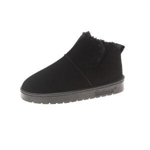 WARORWAR新品YM9-8-37冬季韩版磨砂反绒平底舒适女士雪地靴