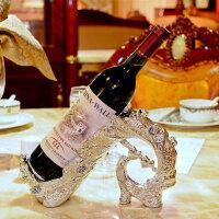 欧式酒柜装饰品摆件现代简约奢华孔雀红酒架个性创意家用客厅家居