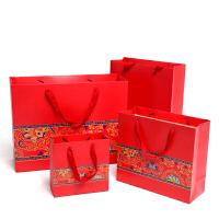 中国红礼盒月饼包装中国风红色喜庆礼品袋纸袋手提袋礼物袋回礼袋