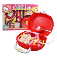 Hello Kitty�P蒂�玩具 �t生套�b �o士箱女孩�^家家角色扮演玩具
