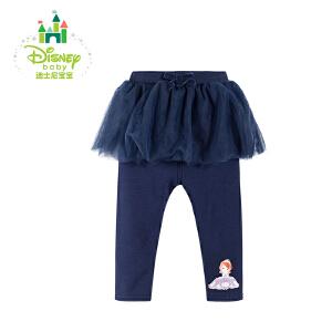 迪士尼Disney童装童装女童假两件保暖裤裙宝宝春秋秋新款打底裤173K778