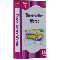 现货 英文原版Three- Letter Words (FlashKids Flash Cards) 86张卡片 进口